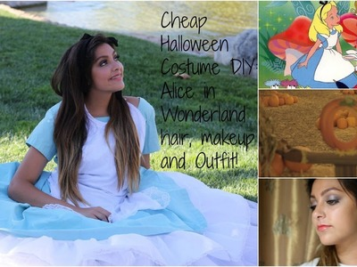 Cheap Halloween Costume DIY: Alice in Wonderland Hair, Make-up and Outfit!