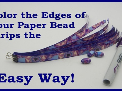 Color Your Paper Bead Strip Edges the Easy Way!