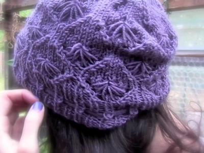 Cornflower Hat Knitting Pattern Trailer