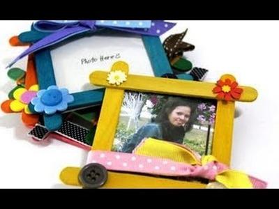 Craft Ideas - Make Photo Frame From Ice cream Sticks - Easy Art & Craft Frame