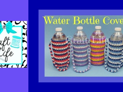 Craft Life Water Bottle Cover Tutorial on One Rainbow Loom