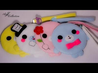Craft Update #3 ~Kawaii Handmade Chubby Mamegoma Pouch~ (Felt Pouch Update #2)