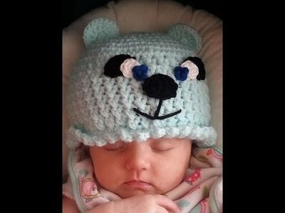 Crochet Adorable Easy Bear Hat DIY tutorial