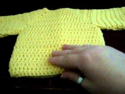Crochet baby cardigan sweater