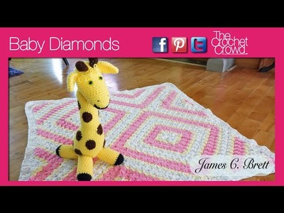 Crochet Baby Diamonds Corner to Corner Afghan