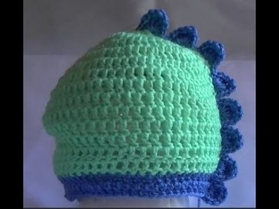 Crochet Dinosaur Beanie - Mini Tutorial