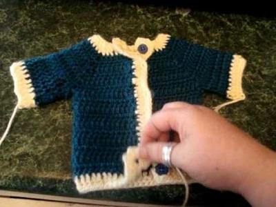 Crochet premmie baby sweater