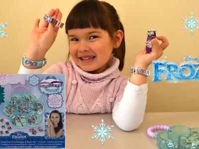Disney Frozen Bracelets and Beads Set Elsa Anna Olaf Frozen Movie Arts and Crafts Toys
