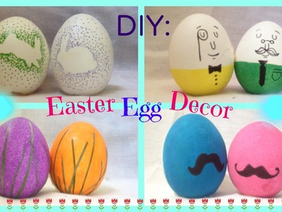 DIY: 4 Easter Egg Decorating Ideas | Quick, Cute and Easy