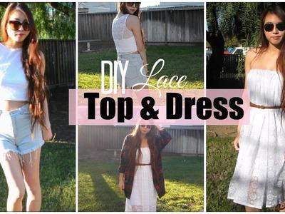 ✂ DIY Crop Lace Top & Dress
