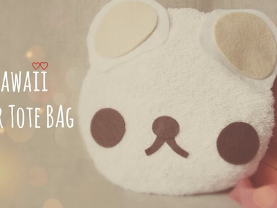DIY Cute Mini Bear Tote Bag Tutorial - Back To School Collab