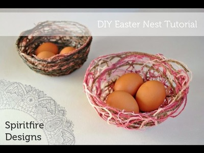 DIY Easter Basket Nest Tutorial