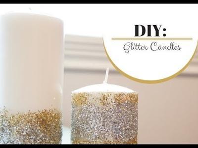 DIY: Glitter Candles | MORESAVANNAH