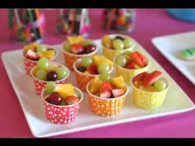 DIY Kids birthday party food decorations ideas