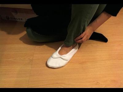 Diy: simple fleece slippers
