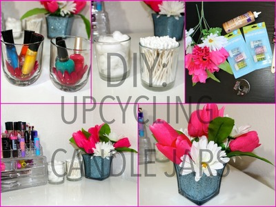 DIY: Ways to re-use old candle jars (College dorm decor tips)