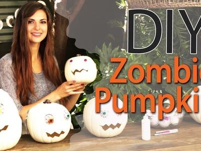 DIY Zombie Pumpkins for Halloween with Socraftastic! #17NailedIt
