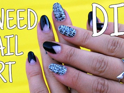 DIYWhyNot: DIY Tweed Nail Art and V French Tips