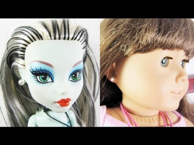 Doll Crafts: How to make simple pearl earrings for your Monster High,Barbie or American Girl Doll
