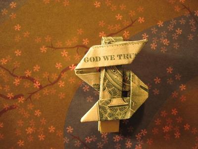 Dollar Origami: Dollar Sign ($ign) steps 4-5 (Not Full Model)