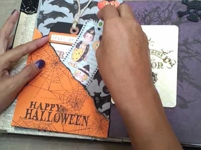 Halloween altered mini book scrapbook album