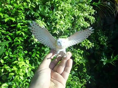 Harry Potter Owned a Snow Owl. This is a papercraft barn owl