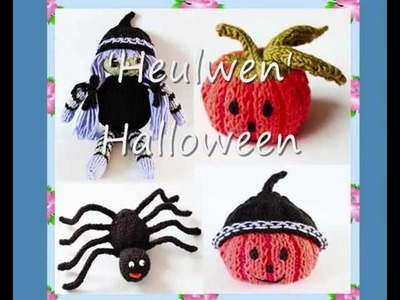 Heulwen Halloween Set of Four Double Knitting DK Yarn Knitting Patterns