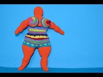How to Crochet Amigurumi Nana - a tribute to Niki de Saint Phalle * Part 3 * Arms