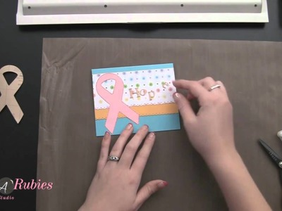 How to Heat Emboss 3M Craft Paper: Breast Cancer Awareness Card