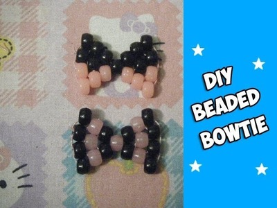 How to Make A Beaded Bowtie (Kandi) - [www.gingercande.com]