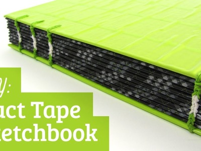 How to Make a Duct Tape Sketchbook: Coptic Stitch