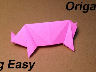 How to Make a Paper Animals. Origami Pig. Easy for Children