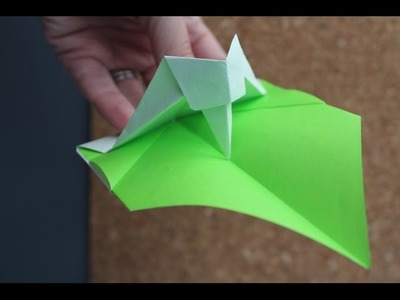 How to make an moving Origami Woodpecker