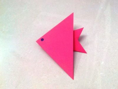 How to make an origami paper fish - 1   Origami. Paper Folding Craft, Videos and Tutorials.