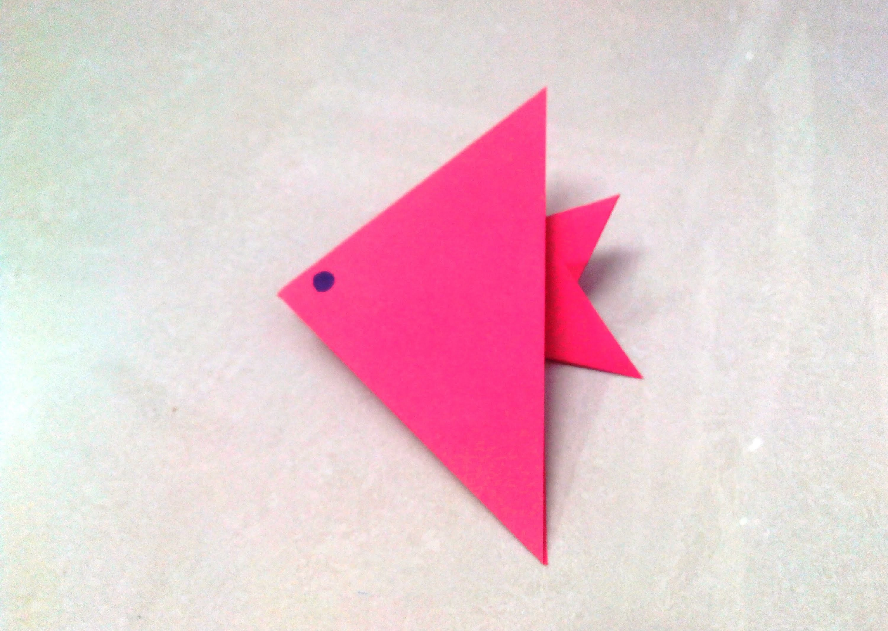 How to make an origami paper fish - 1, Origami. Paper ... - photo#22
