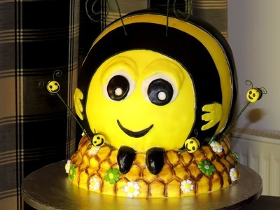 "How To Make, DIY  "" The Hive BuzzBee "" Disney Birthday Cake Tutorial"