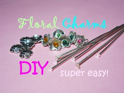 How to make Floral Charms with Copper Bead Caps ✿ Come creare dei Fiori con le Coppette Copriperla