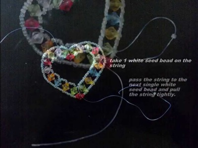 How To Make Heart Shaped Pendant With Beads and Crystals