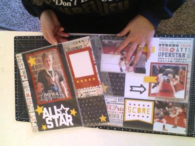 How to use CTMH Flip Flaps on your Scrapbook Layouts