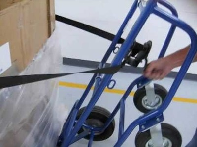 HVAC Hand Truck with custom extra-long Strap attachment by Valley Craft