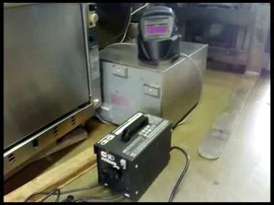 I got a welder + little shot of me welding + go kart re welded