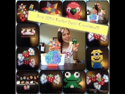 July 2014 Perler Bead Creations!! Featuring Octopus.Jack!!