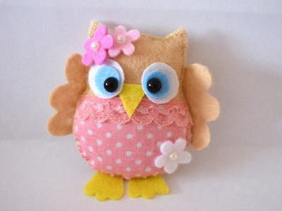 Make a Pretty Felt and Fabric Owl - DIY Crafts - Guidecentral