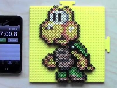 Mario Koopa Troopa Perler Bead Sprite