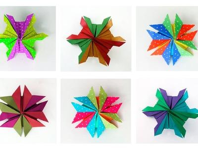 Modular Origami Snowflake :: Estrella de seis puntas