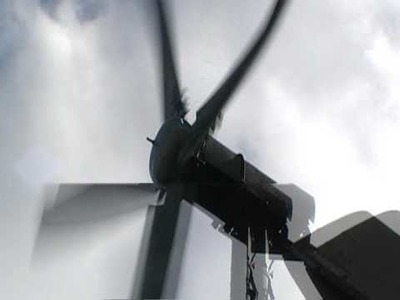 My DIY wind turbine showing output in AMPS