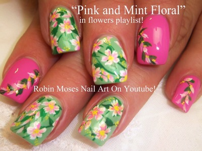 Nail Art Tutorial | Easy Spring Nail Art | Pastel Flower Nail Design!!!