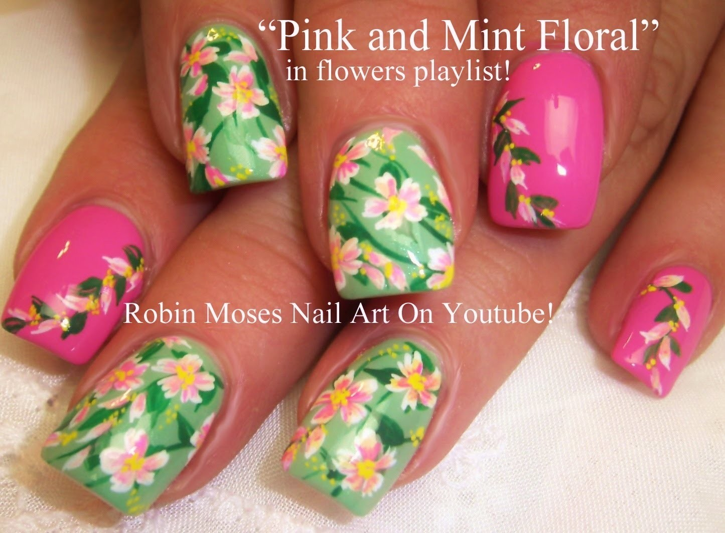 Nail Art Tutorial | Easy Spring Nail Art | Pastel Flower Nail Design!!!