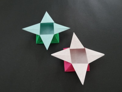 Origami Box Tutorial: How to fold traditional Origami Star Box
