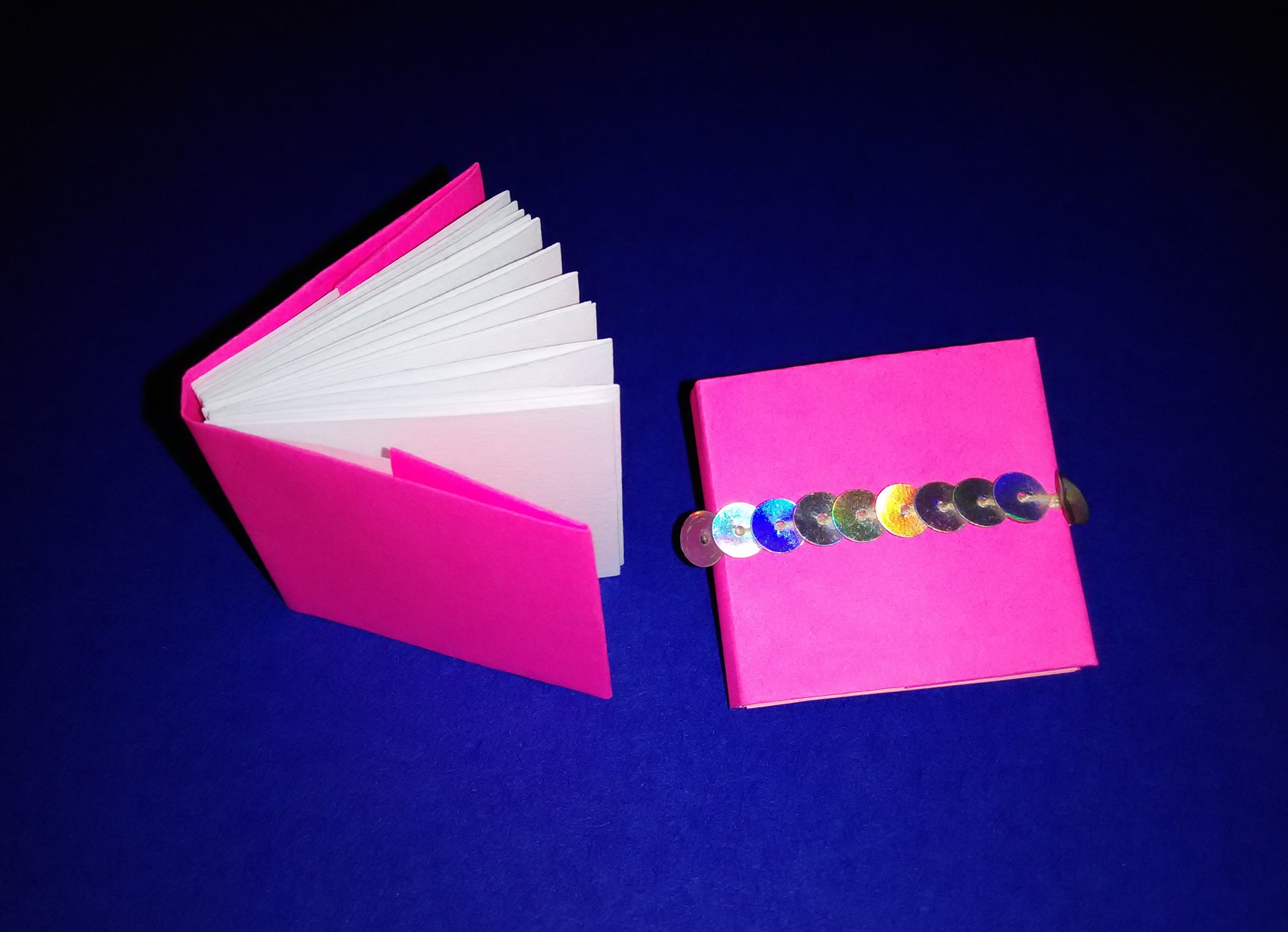 Origami modular mini books. Mini diary - DIY